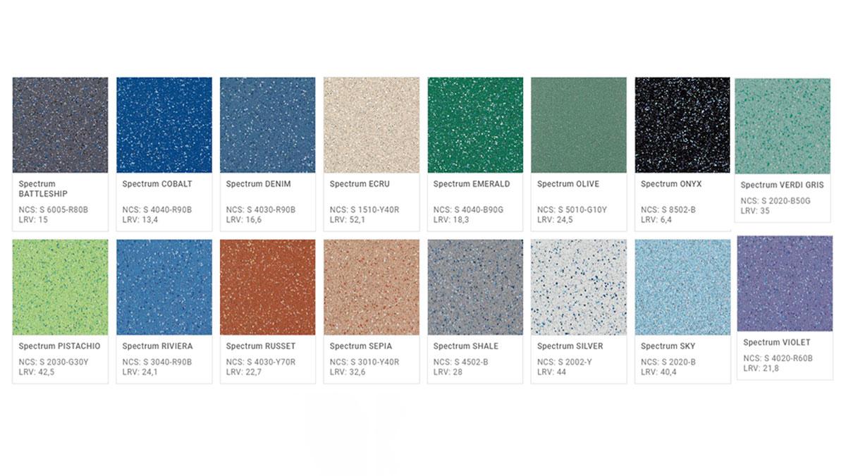 Pavimento Antiscivolo-Antisdruccioolo Safetred Spectrum- Colori