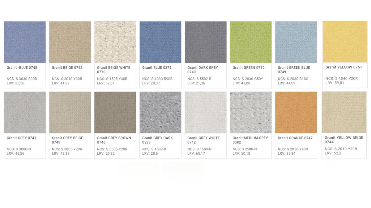 Pavimento Antisdrucciolo-Antiscivolo Granit Multisafe -Colori