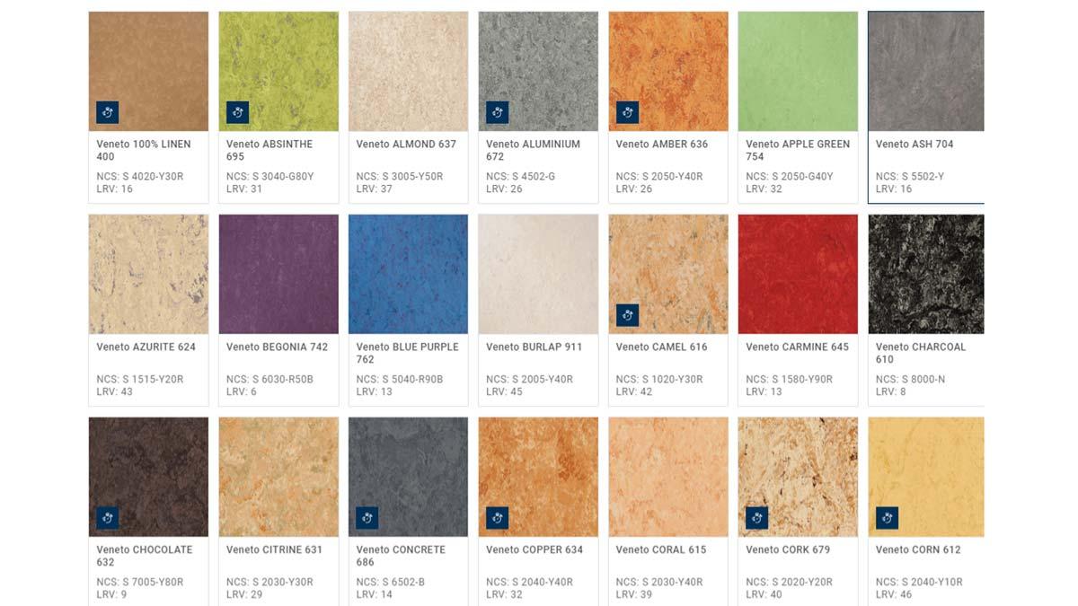 Pavimento Linoleum Veneto - Alcune Texture