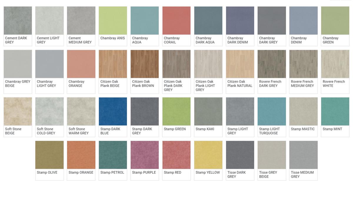 Pavimento Multistratto Fonoassorbente Tapiflex - Colori
