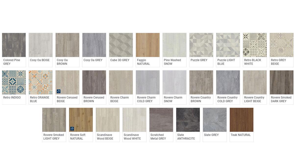 Pavimenti Luxury Vynil Tile Starfloor - Colori