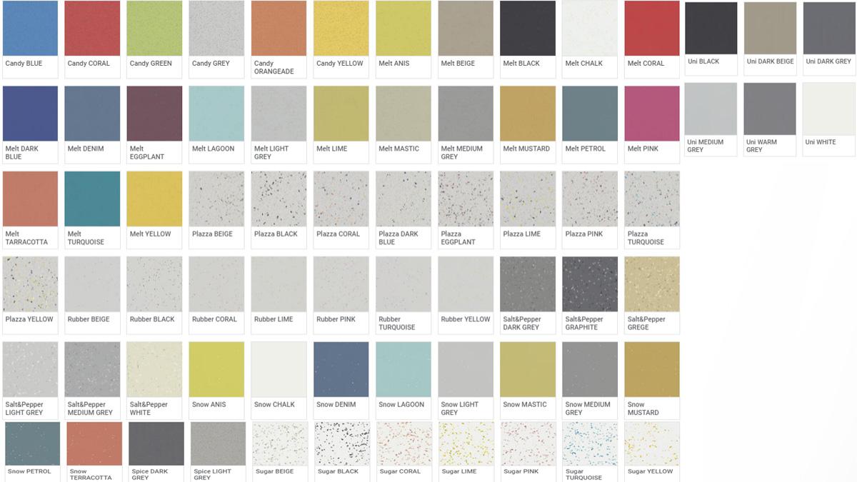 Pavimento Vinilico Acustico - Acczent Platinium 100 - Colori